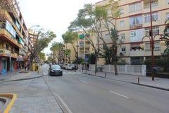 Calle en Marabella Foto de archivo libre de regalías