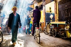 Calle en Marrakesh Imágenes de archivo libres de regalías