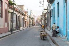 Calle en Matanzas, Cuba Fotografía de archivo libre de regalías