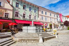Calle en Melk, Austria Imagen de archivo