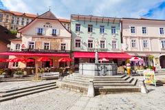 Calle en Melk, Austria Fotografía de archivo