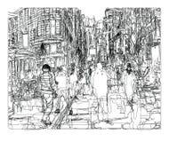 Calle en New York City stock de ilustración