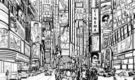 Calle en New York City ilustración del vector