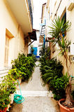 Calle en Parga, Grecia Imagen de archivo libre de regalías