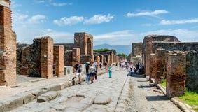 Calle en Pompeya, Italia Imagen de archivo