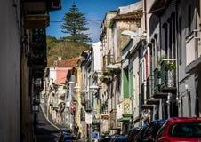 Calle en Ponta Delgada Imágenes de archivo libres de regalías