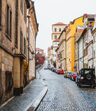 Calle en Praga Imagenes de archivo