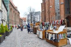 Calle en Riga Fotos de archivo