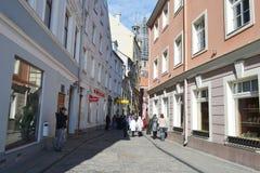 Calle en Riga Imagenes de archivo