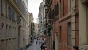 Calle en Roma, Italia almacen de video