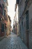 Calle en Rovinj Imagen de archivo libre de regalías