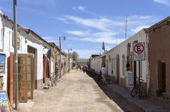 Calle en San Pedro de Atacama Imágenes de archivo libres de regalías