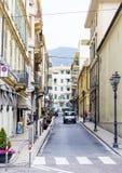 calle en Sanremo, Italia fotografía de archivo