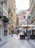 calle en Sanremo, Italia foto de archivo