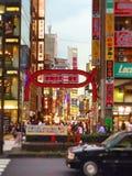 Calle en Shinjuku fotografía de archivo