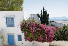 Calle en Sidi Bou dicho Imagen de archivo libre de regalías