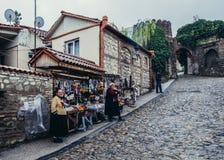 Calle en Sighnaghi Fotografía de archivo