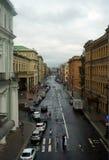 Calle en St Petersburg Imagenes de archivo