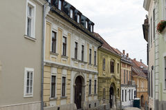 Calle en Szekesfehervar Imagen de archivo