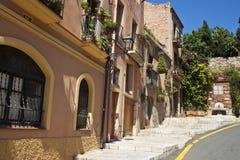 Calle en Tarragona Imagenes de archivo
