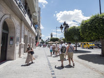 Calle en Túnez Fotos de archivo libres de regalías