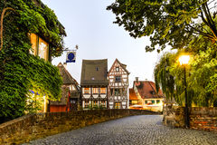 Calle en Ulm, Alemania Fotografía de archivo libre de regalías