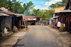 Calle en un pueblo Imagenes de archivo