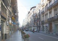 Calle en Valencia, España Fotos de archivo libres de regalías
