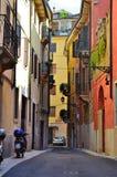 Calle en Verona Foto de archivo libre de regalías