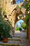 Calle en Yafo.tel viejo aviv.israel Imágenes de archivo libres de regalías