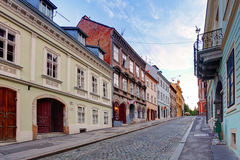 Calle en Zagreb imagen de archivo