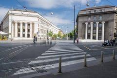 Calle en Zagreb, Croacia fotos de archivo libres de regalías