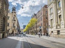 Calle en Zagreb, Croacia fotos de archivo