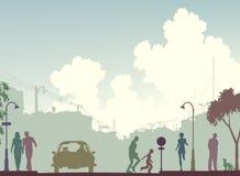 Calle entonada stock de ilustración