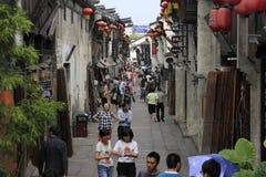 Calle estrecha de la calle del yuehe Foto de archivo