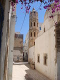 Calle estrecha de la ciudad vieja Foto de archivo