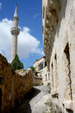 Calle estrecha en Cappadocia Foto de archivo libre de regalías