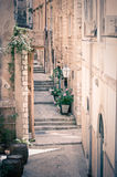 Calle estrecha en Dubrovnik Fotografía de archivo