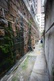 Calle estrecha en Hong-Kong foto de archivo