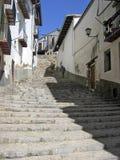 Calle estrecha Morella Foto de archivo libre de regalías