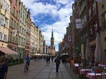 Calle europea Imagenes de archivo