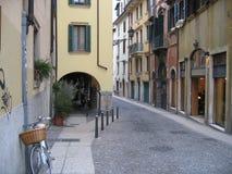 Calle europea Imagen de archivo libre de regalías
