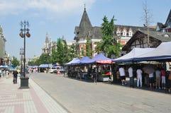 Calle europea del estilo Fotos de archivo