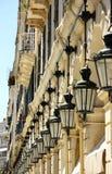 Calle famosa de Liston en la ciudad de Corfú (Grecia) Fotos de archivo libres de regalías