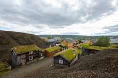 Calle Flandenberg en Røros/Roros Foto de archivo libre de regalías
