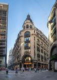 Calle Florida Florida Street - Buenos Aires, Argentina. Buenos Aires, Argentina - Feb 04, 2018: Calle Florida Florida Street - Buenos Aires, Argentina Royalty Free Stock Photo