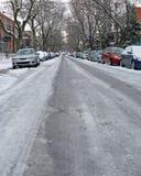 Calle helada Foto de archivo