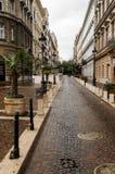 Calle hermosa de Budapest imagen de archivo