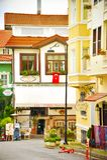 Calle hermosa de Estambul Turquía, concepto turístico de la arquitectura de la visita Imagen de archivo