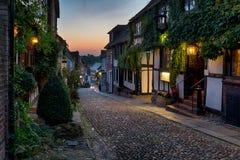 Calle hermosa del adoquín Fotografía de archivo libre de regalías